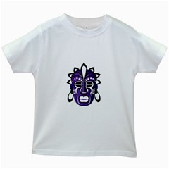 Mask Kids White T Shirts by Valentinaart