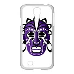 Mask Samsung Galaxy S4 I9500/ I9505 Case (white) by Valentinaart