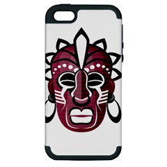 Mask Apple Iphone 5 Hardshell Case (pc+silicone) by Valentinaart
