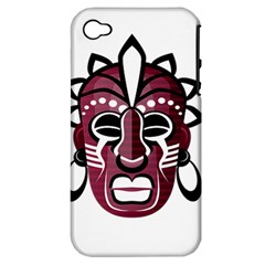 Mask Apple Iphone 4/4s Hardshell Case (pc+silicone) by Valentinaart