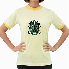 Mask Women s Fitted Ringer T Shirts by Valentinaart