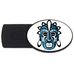 Mask Usb Flash Drive Oval (4 Gb) by Valentinaart