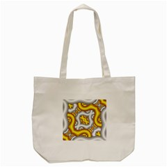 Fractal Background With Golden And Silver Pipes Tote Bag (cream) by Amaryn4rt