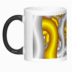 Fractal Background With Golden And Silver Pipes Morph Mugs by Amaryn4rt