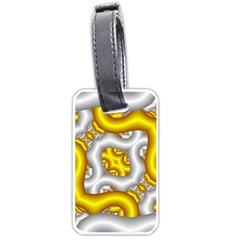Fractal Background With Golden And Silver Pipes Luggage Tags (two Sides) by Amaryn4rt