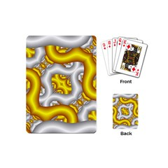 Fractal Background With Golden And Silver Pipes Playing Cards (mini)  by Amaryn4rt