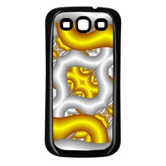 Fractal Background With Golden And Silver Pipes Samsung Galaxy S3 Back Case (black) by Amaryn4rt