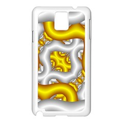 Fractal Background With Golden And Silver Pipes Samsung Galaxy Note 3 N9005 Case (white) by Amaryn4rt