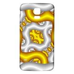 Fractal Background With Golden And Silver Pipes Samsung Galaxy S5 Back Case (white)