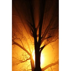 Rays Of Light Tree In Fog At Night 5 5  X 8 5  Notebooks by Amaryn4rt