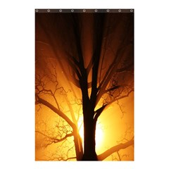 Rays Of Light Tree In Fog At Night Shower Curtain 48  X 72  (small)  by Amaryn4rt
