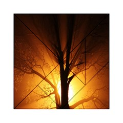 Rays Of Light Tree In Fog At Night Acrylic Tangram Puzzle (6  x 6 ) by Amaryn4rt