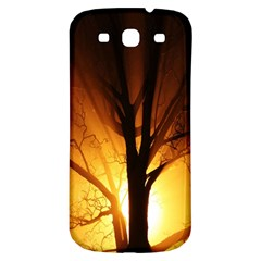 Rays Of Light Tree In Fog At Night Samsung Galaxy S3 S Iii Classic Hardshell Back Case by Amaryn4rt