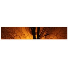 Rays Of Light Tree In Fog At Night Flano Scarf (large)
