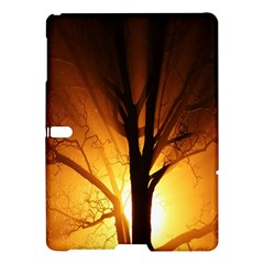 Rays Of Light Tree In Fog At Night Samsung Galaxy Tab S (10 5 ) Hardshell Case  by Amaryn4rt
