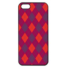 Plaid Pattern Apple Iphone 5 Seamless Case (black) by Valentinaart