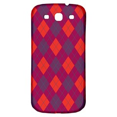 Plaid Pattern Samsung Galaxy S3 S Iii Classic Hardshell Back Case by Valentinaart