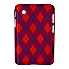 Plaid Pattern Samsung Galaxy Tab 2 (7 ) P3100 Hardshell Case  by Valentinaart