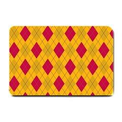 Plaid Pattern Small Doormat  by Valentinaart
