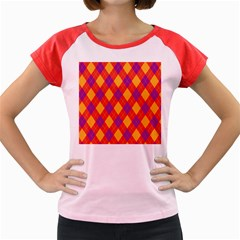 Plaid Pattern Women s Cap Sleeve T Shirt by Valentinaart