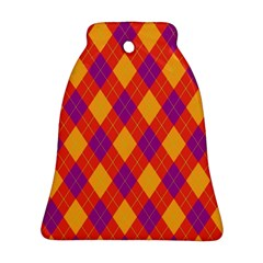 Plaid Pattern Bell Ornament (two Sides) by Valentinaart