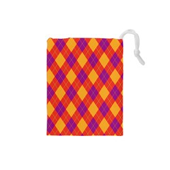 Plaid Pattern Drawstring Pouches (small)  by Valentinaart