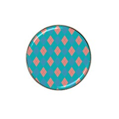 Plaid Pattern Hat Clip Ball Marker by Valentinaart