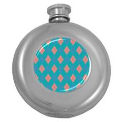 Plaid Pattern Round Hip Flask (5 Oz) by Valentinaart