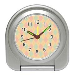 Plaid Pattern Travel Alarm Clocks by Valentinaart