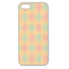 Plaid Pattern Apple Seamless Iphone 5 Case (clear) by Valentinaart