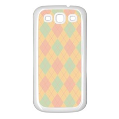 Plaid Pattern Samsung Galaxy S3 Back Case (white) by Valentinaart