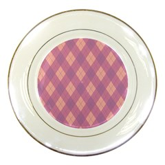 Plaid Pattern Porcelain Plates by Valentinaart