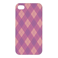 Plaid Pattern Apple Iphone 4/4s Hardshell Case by Valentinaart