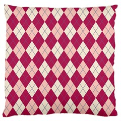 Plaid Pattern Large Flano Cushion Case (one Side) by Valentinaart