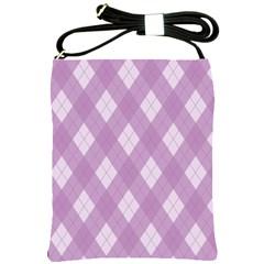 Plaid Pattern Shoulder Sling Bags by Valentinaart