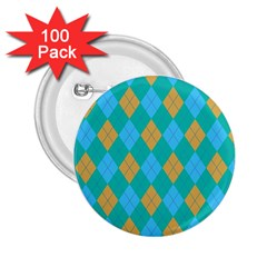 Plaid Pattern 2 25  Buttons (100 Pack)  by Valentinaart