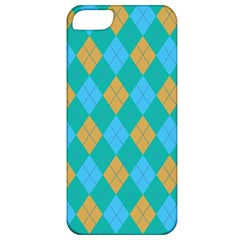 Plaid Pattern Apple Iphone 5 Classic Hardshell Case by Valentinaart
