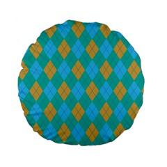 Plaid Pattern Standard 15  Premium Flano Round Cushions by Valentinaart