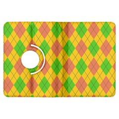 Plaid Pattern Kindle Fire Hdx Flip 360 Case by Valentinaart