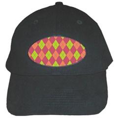 Plaid Pattern Black Cap by Valentinaart