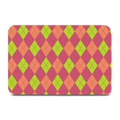 Plaid Pattern Plate Mats by Valentinaart