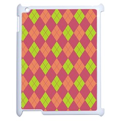 Plaid Pattern Apple Ipad 2 Case (white) by Valentinaart