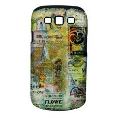 Old Newspaper And Gold Acryl Painting Collage Samsung Galaxy S Iii Classic Hardshell Case (pc+silicone) by EDDArt