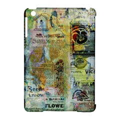 Old Newspaper And Gold Acryl Painting Collage Apple Ipad Mini Hardshell Case (compatible With Smart Cover) by EDDArt