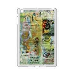 Old Newspaper And Gold Acryl Painting Collage Ipad Mini 2 Enamel Coated Cases by EDDArt