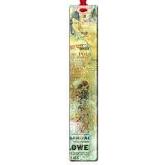 Old Newspaper And Gold Acryl Painting Collage Large Book Marks by EDDArt