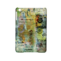 Old Newspaper And Gold Acryl Painting Collage Ipad Mini 2 Hardshell Cases by EDDArt
