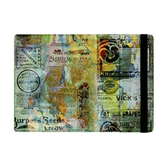 Old Newspaper And Gold Acryl Painting Collage Ipad Mini 2 Flip Cases by EDDArt