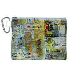 Old Newspaper And Gold Acryl Painting Collage Canvas Cosmetic Bag (xl) by EDDArt