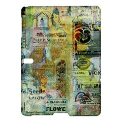 Old Newspaper And Gold Acryl Painting Collage Samsung Galaxy Tab S (10 5 ) Hardshell Case  by EDDArt